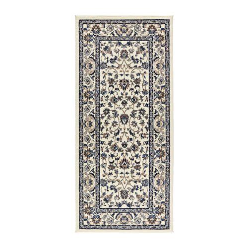 Teppich ikea alvine  VALLÖBY Teppich Kurzflor, beige, blau | Der fuß, Dichter und Teppiche