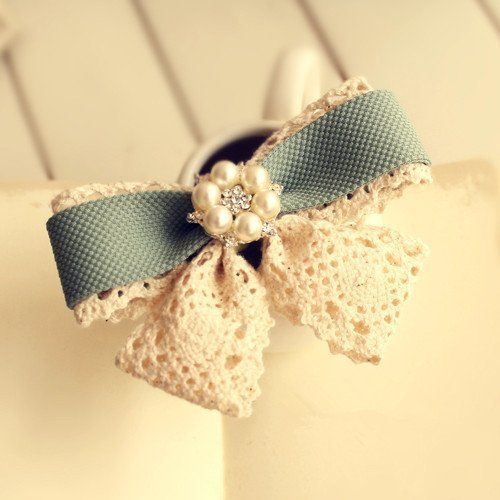 My Colour 100% Handmade Elegant Delicate Pearl Diamon Hair Accessories Hair Clip -- See this great product.