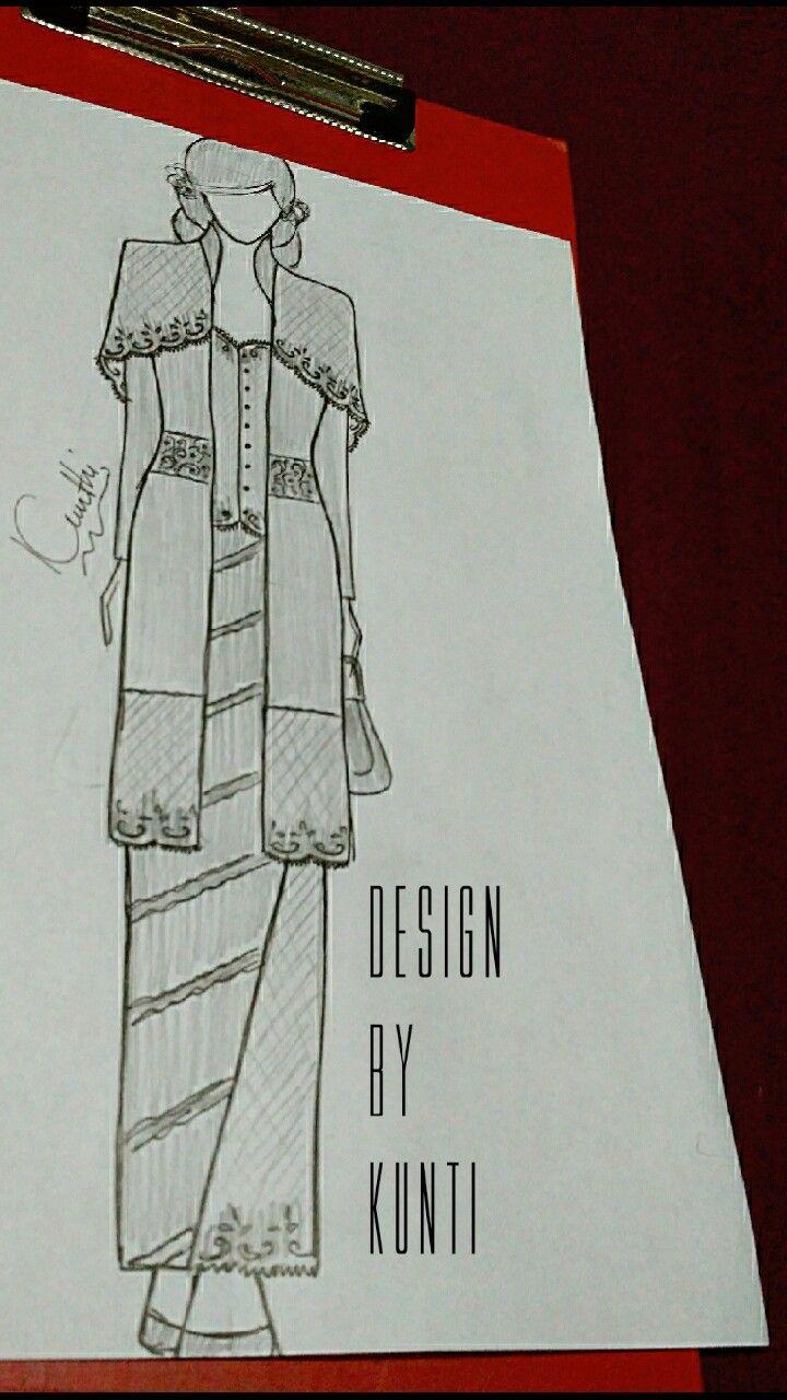 Pin Oleh Design Kunti Di Kebaya Sketch