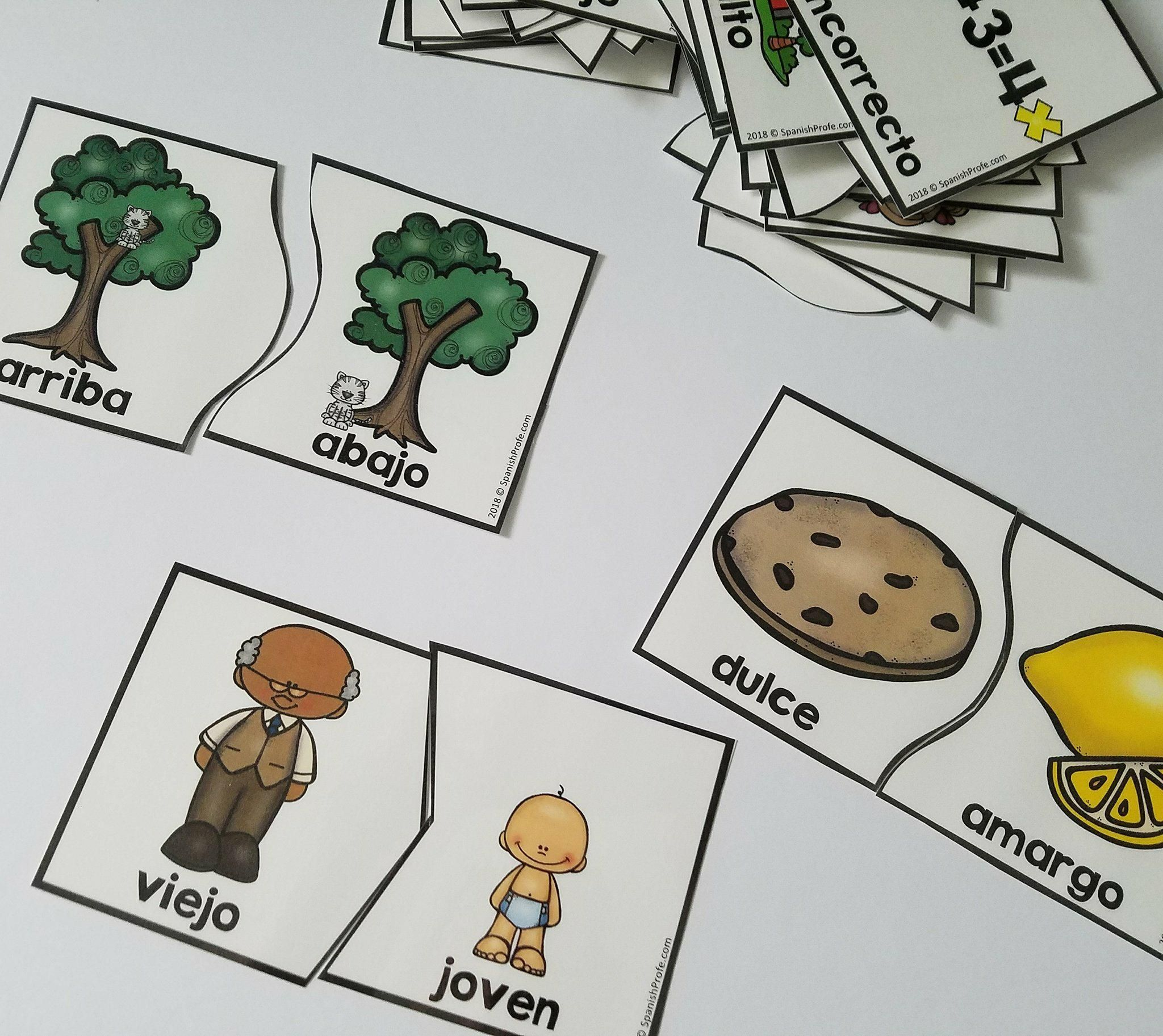 Antonyms Puzzles In Spanish Rompecabezas De Antonimos