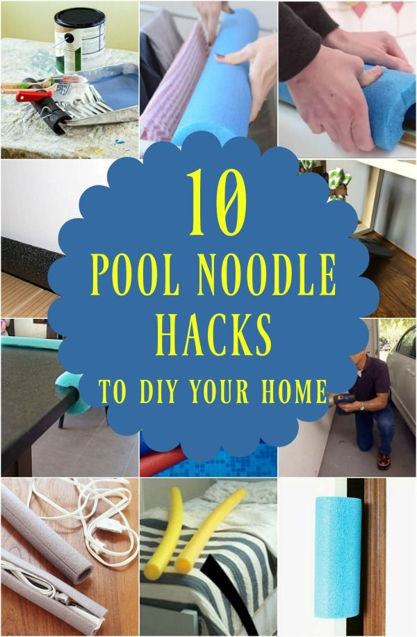 10 Brilliant Ways To Diy With Pool Noodles Pool Noodles Pool