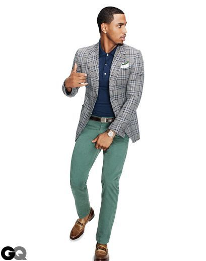 Jacket, $2,350, and loafers, $570, by Gucci. Polo shirt, $385 by ...