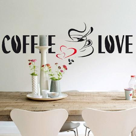 Brewster home fashions euro coffee love wall decal