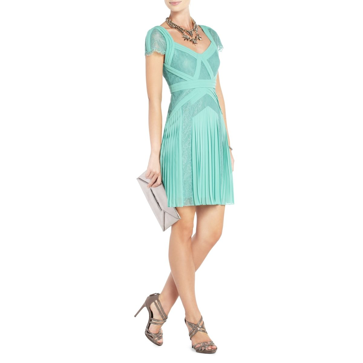 7512606959f BCBGMAXAZRIA - ARIS PLEATED COCKTAIL DRESS- such a beautiful color and  design. Very feminine.