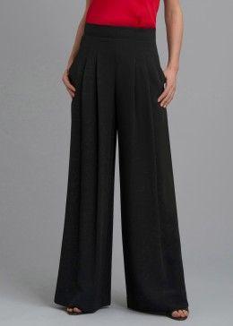 Black crepe pants for fall 2013