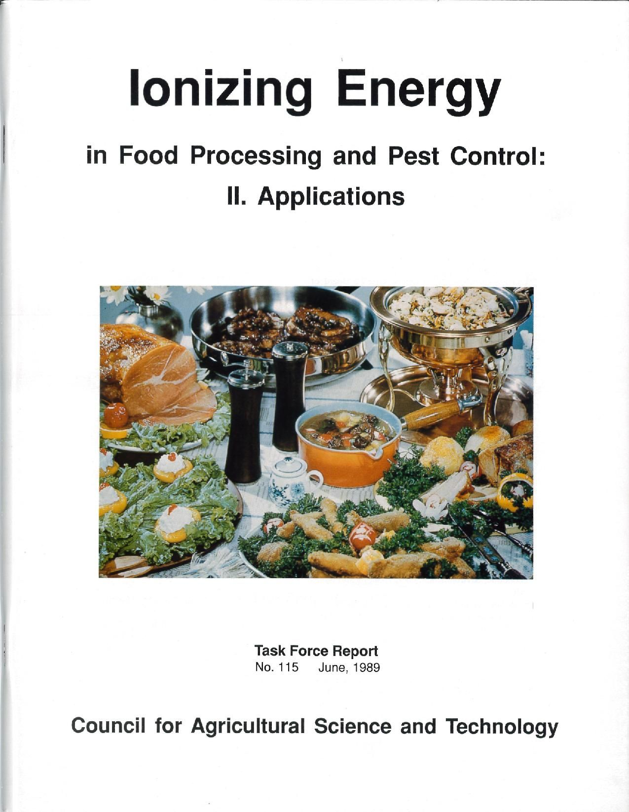 Ionizing Energy in Food Processing and Pest Control II
