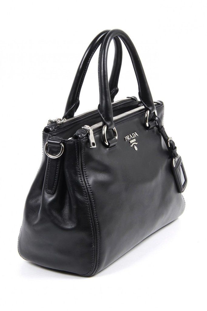 7765312c60 Prada shopping tote handbag BN2866 Nero Soft Calf DetailsExternal  Composition  Soft Calf LeatherMeasuresShipped from USA and delivered in 3 6  days.