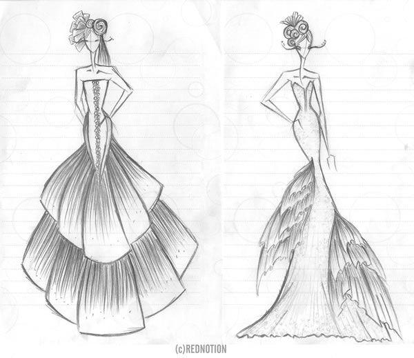 jurk tekening - Google zoeken