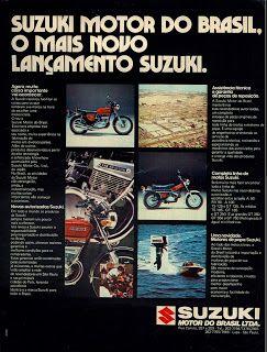 Anúncio moto Suzuki - 1975