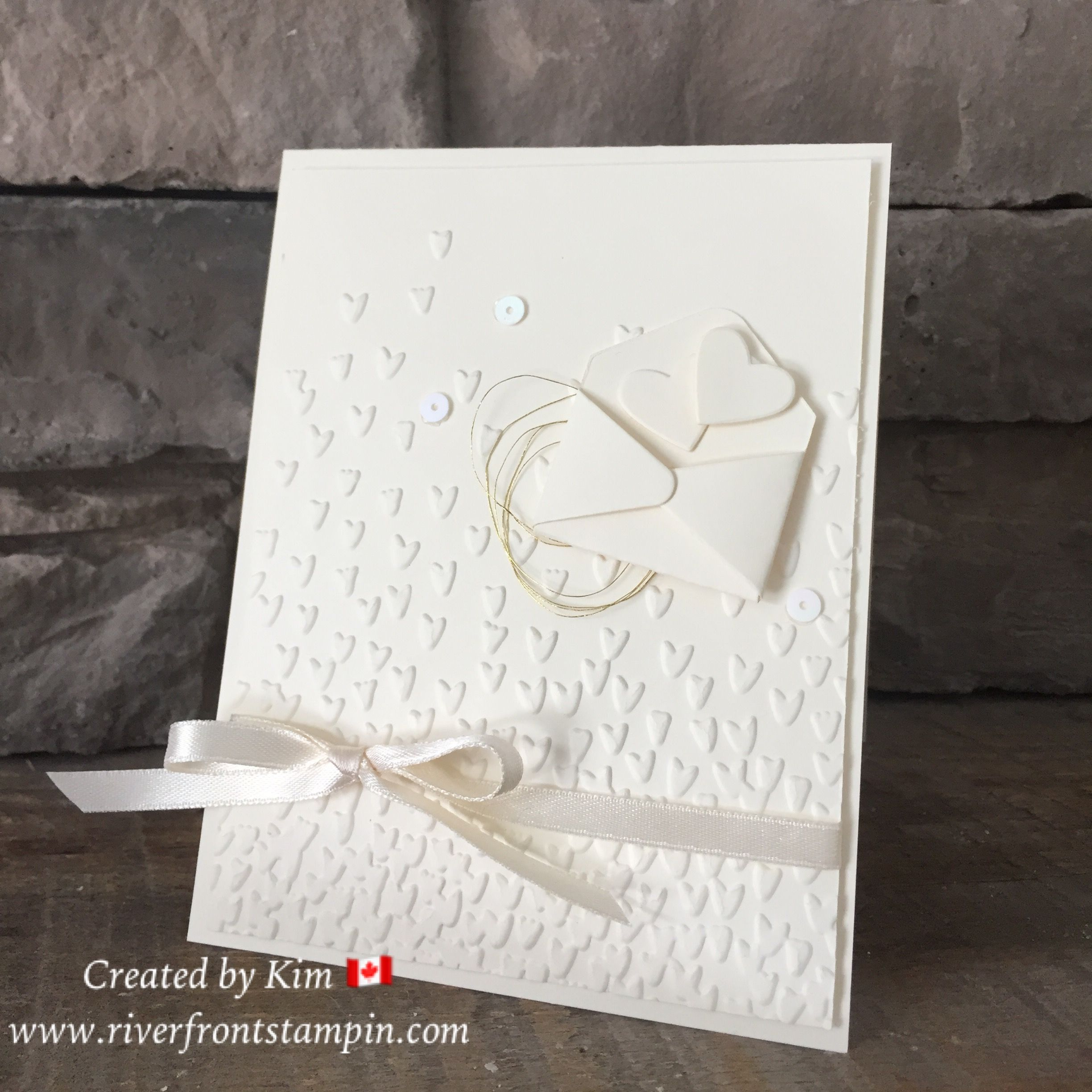 Falling Petals Textured Embossing Folder From Stampin Up Is Perfect
