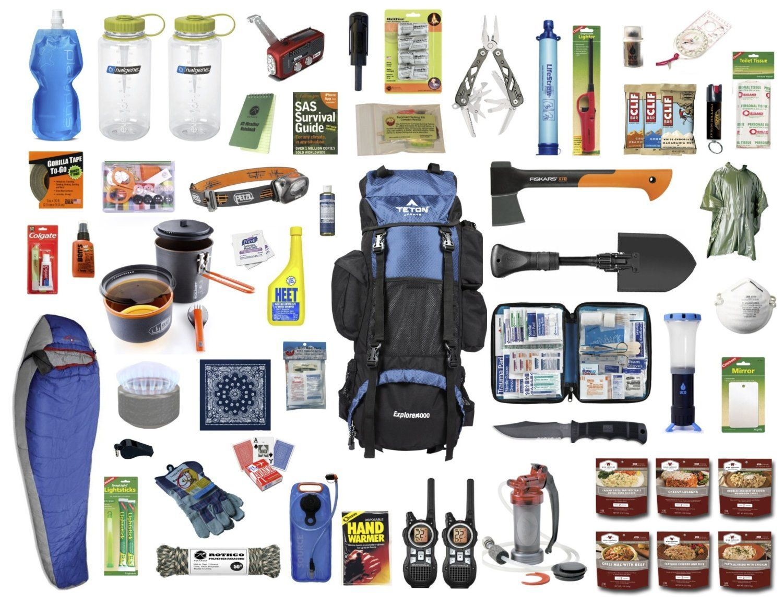 Amazon Com 4 0 Bug Out Bag And Survival Kit By Outtagear Sports Outdoors Survival Survival Kit Bug Out Bag