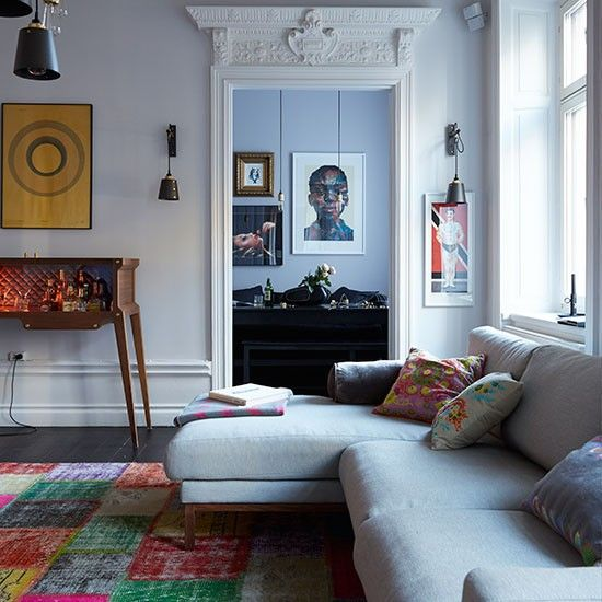 Sitting room   Eclectic Scandi home   House tour   PHOTO GALLERY    Livingetc   Housetohome. Stockholm penthouse flat   House tours  Eclectic living room and