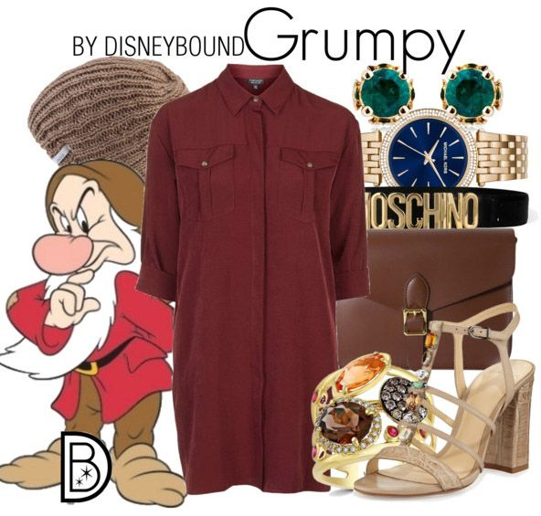 88bd7b1541e2 Grumpy never looked so chic. DisneyBound style inspired by Snow White and  the Seven Dwarfs.