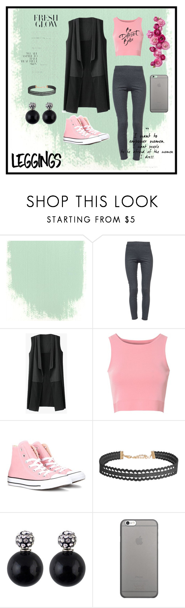 """""""""""Work out"""" style"""" by happy-bunny-69 ❤ liked on Polyvore featuring David Lerner, Glamorous, Converse, Humble Chic, Native Union, Leggings and WardrobeStaples"""