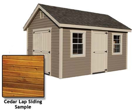 10 X 16 Deluxe Estate Shed With Cedar Lap Siding Yard Sheds Shed Cedar Lap Siding