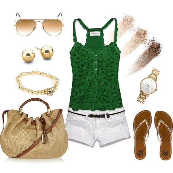 Emerald, white & gold