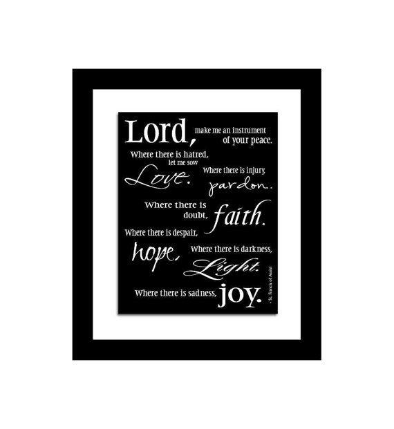 St Francis Prayer Word Art Pope Francis Wall Art Giclee Art Print  sc 1 st  Pinterest & St Francis Prayer Word Art Pope Francis Wall Art Giclee Art ...