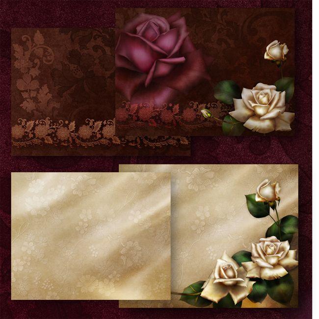 Jaguarwoman's Antique Roses Floral Graphics: Roses