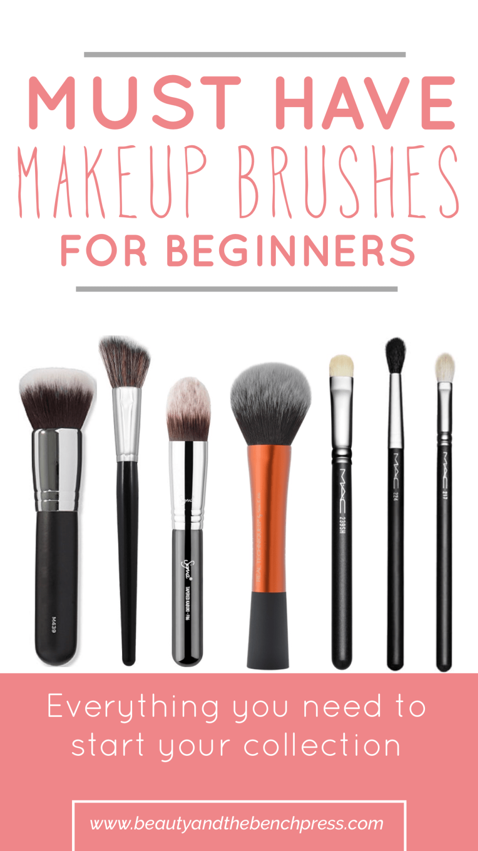 Must Have Makeup Brushes for Beginners (With images) Smink