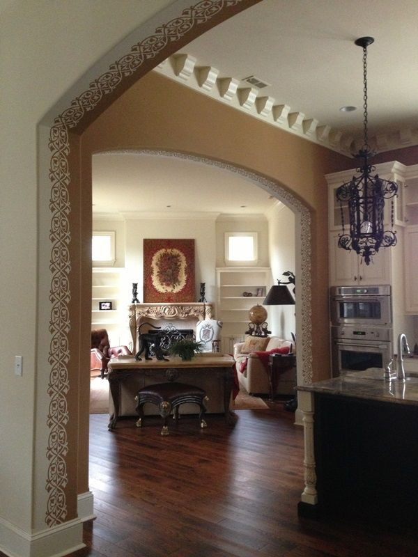 A Creative Way To Transition Paint Colors From One E Another Especially When Walls Have Rounded Corners Arches Painted By Michele Molek Of