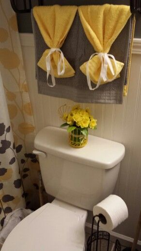 The Small Things Yellow Gray Bathroom Yellow Grey Bathroom