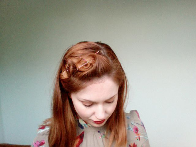 How To My Pin Curl Set For 1940 S Hair Styles Curling Straight Hair Hair Styles Hairstyle 1940