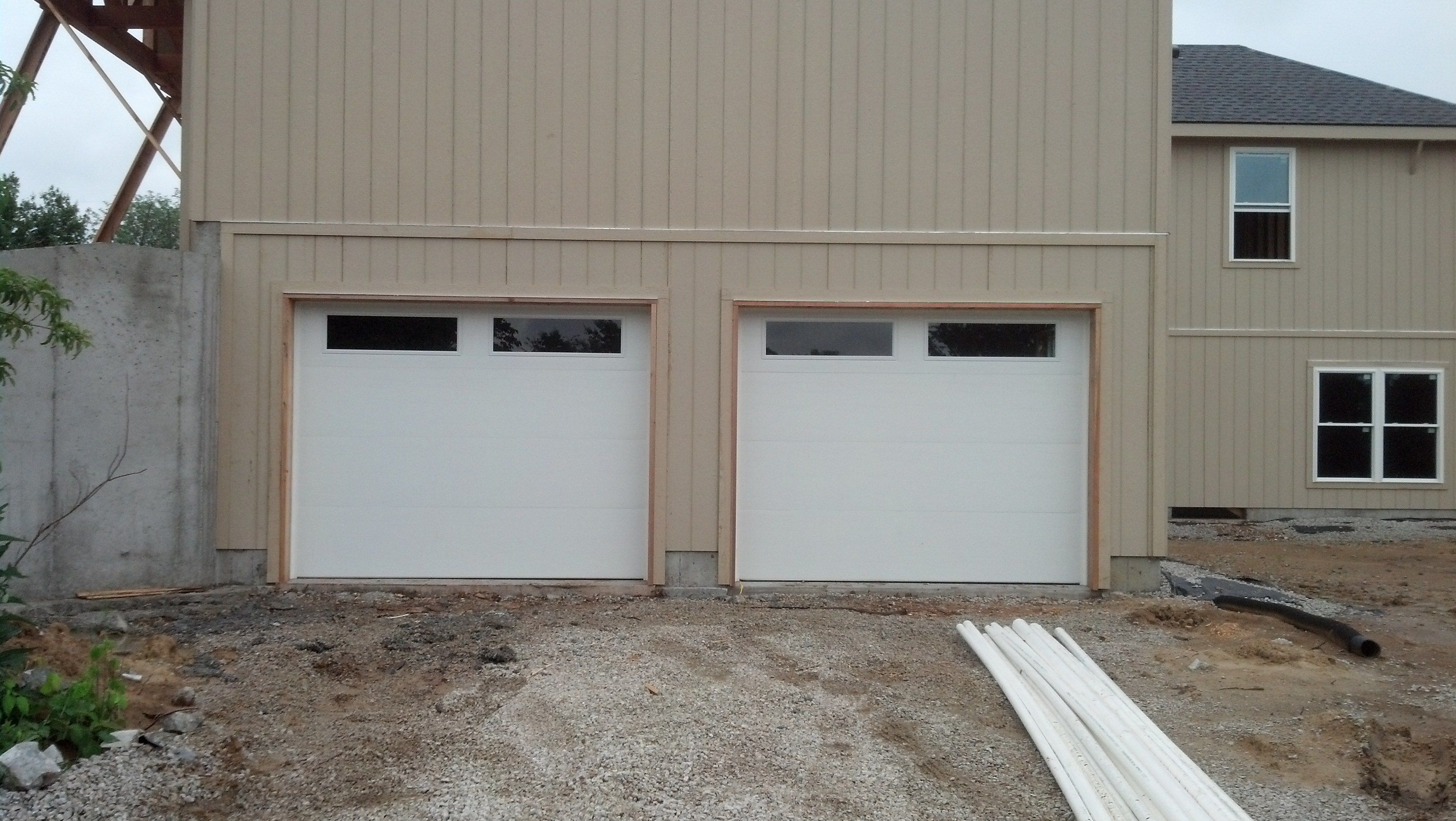 Clopay premium series classic collection flush style long for Buy clopay garage doors online