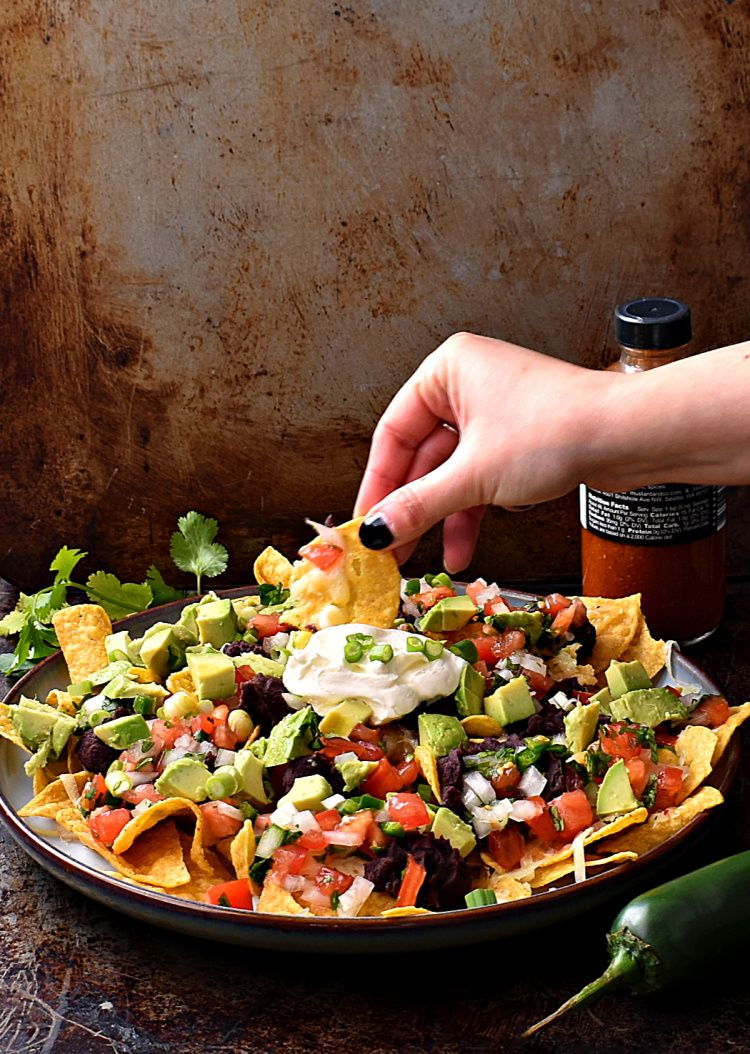 Easy Vegetarian Microwave Nachos Recipe (With images