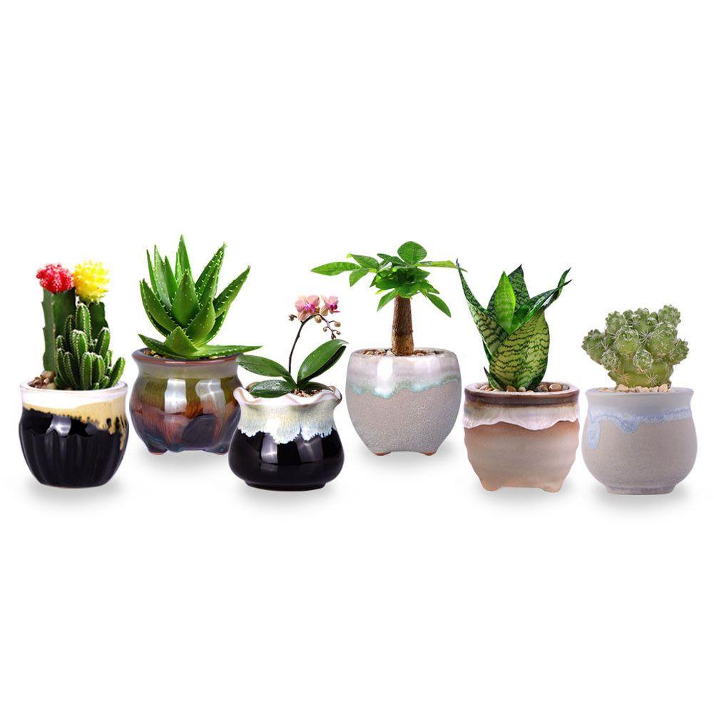 3.07 GBP - Mini Flowing Glaze Patten Ceramic Containers Succulent ...