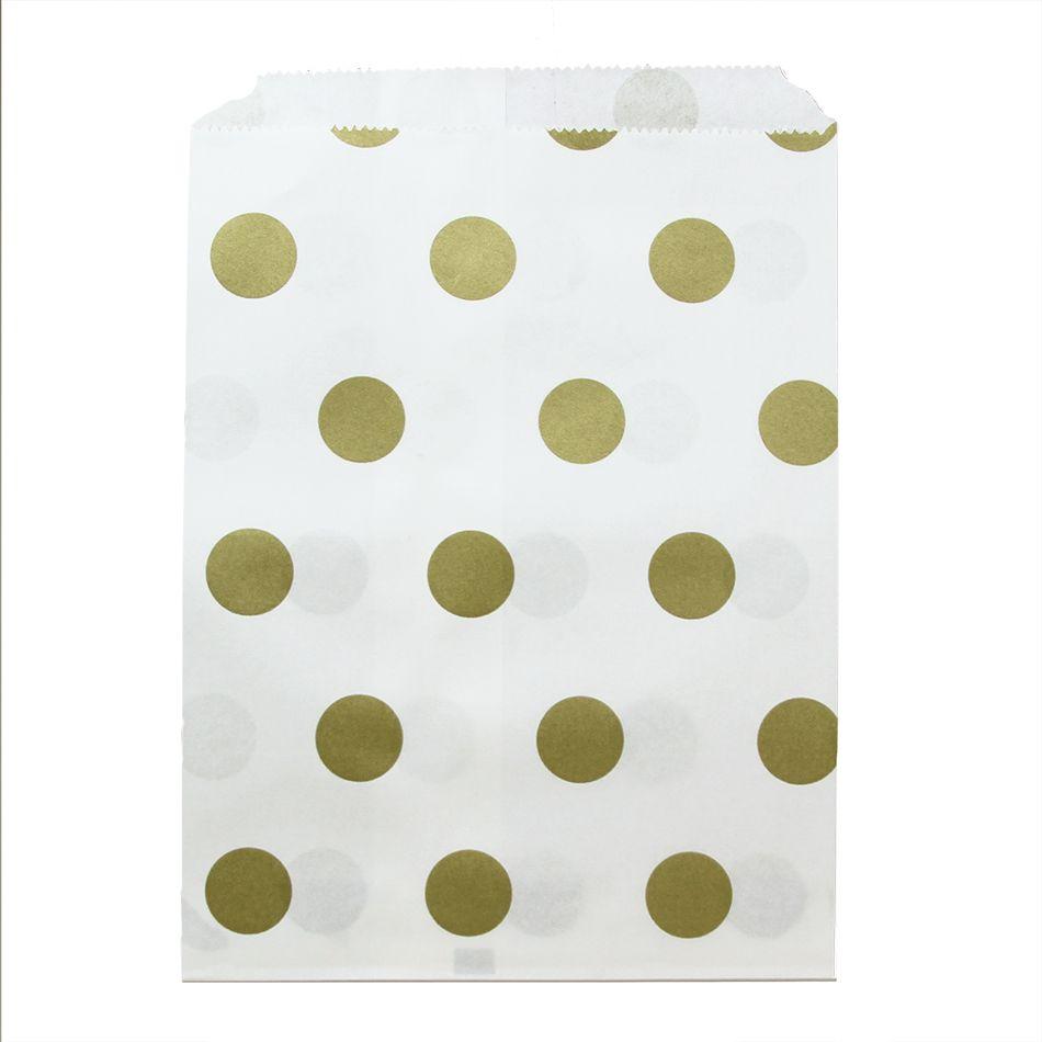 Gold Foil Polka Dot Favor Bags, 24-Pack [DMC57031] : Wholesale ...