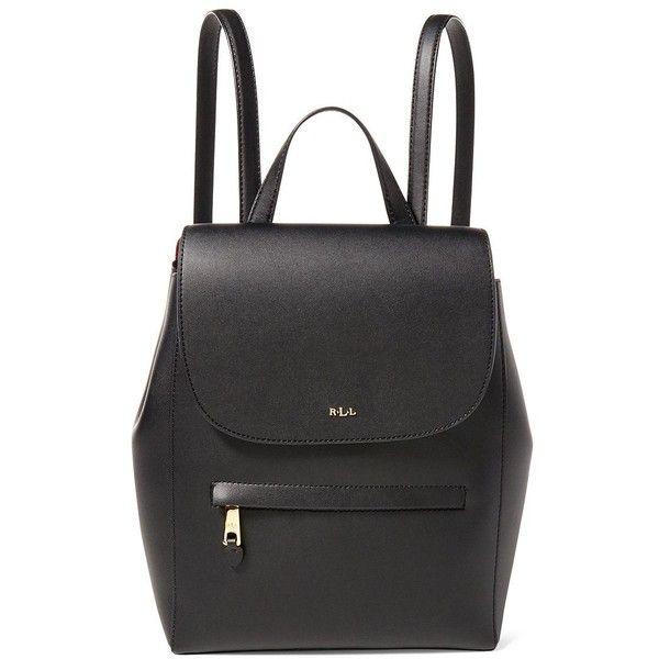 591cd187fab64 Lauren Ralph Lauren Women s Ellen Leather Backpack ( 228) ❤ liked on  Polyvore featuring bags