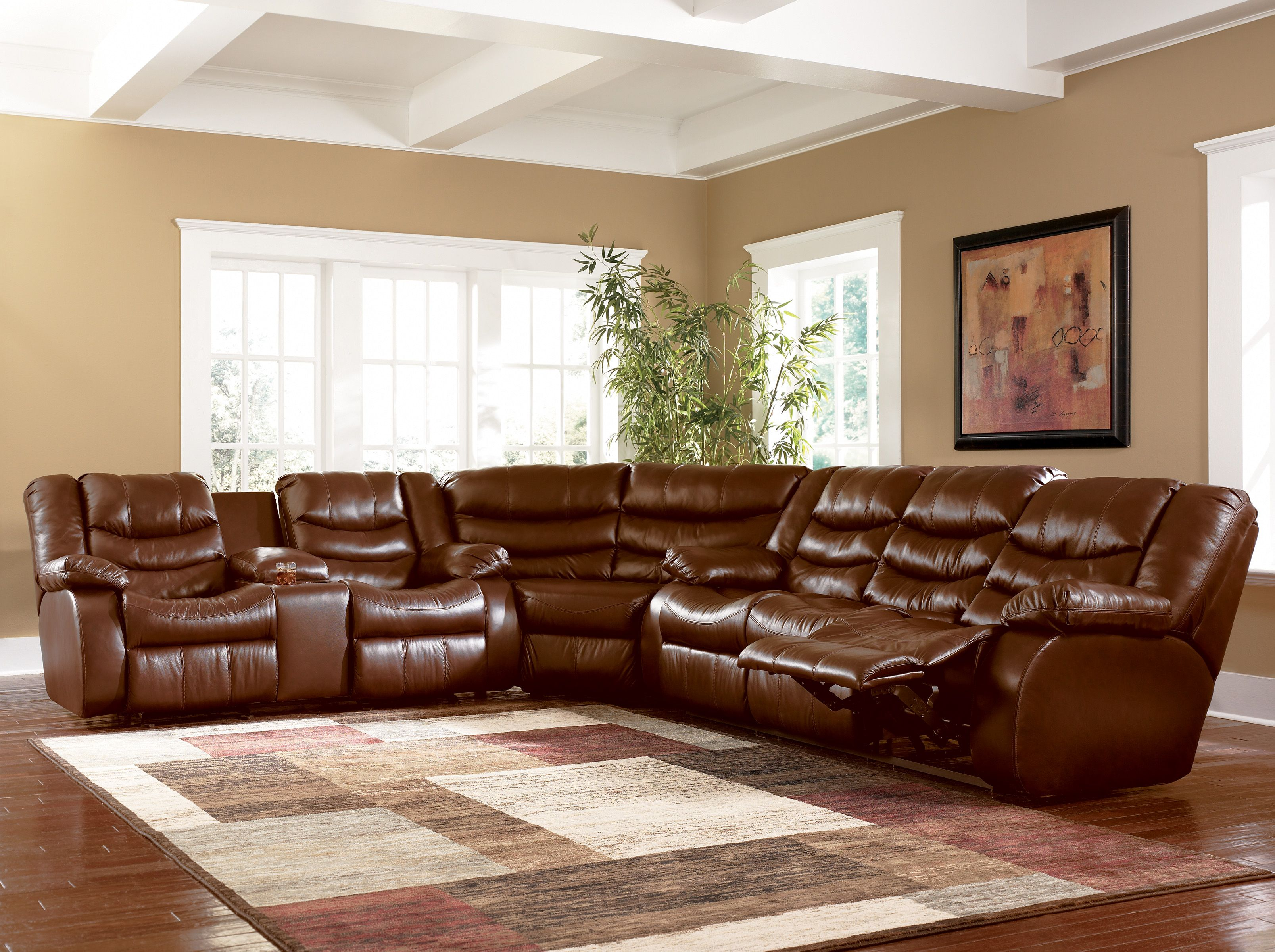 Images Of Burgundy Leather Sectionals Ashley