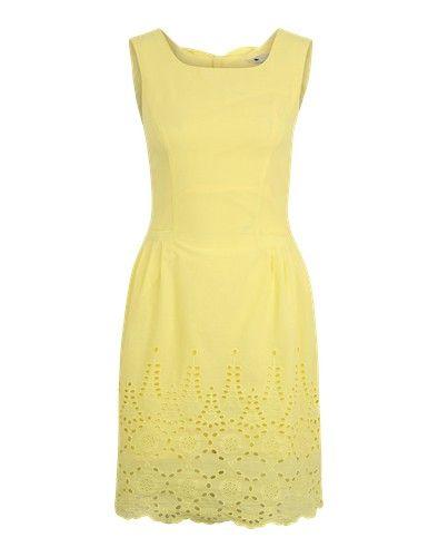 Yumi Sommerkleid mit Lochstickerei gelb