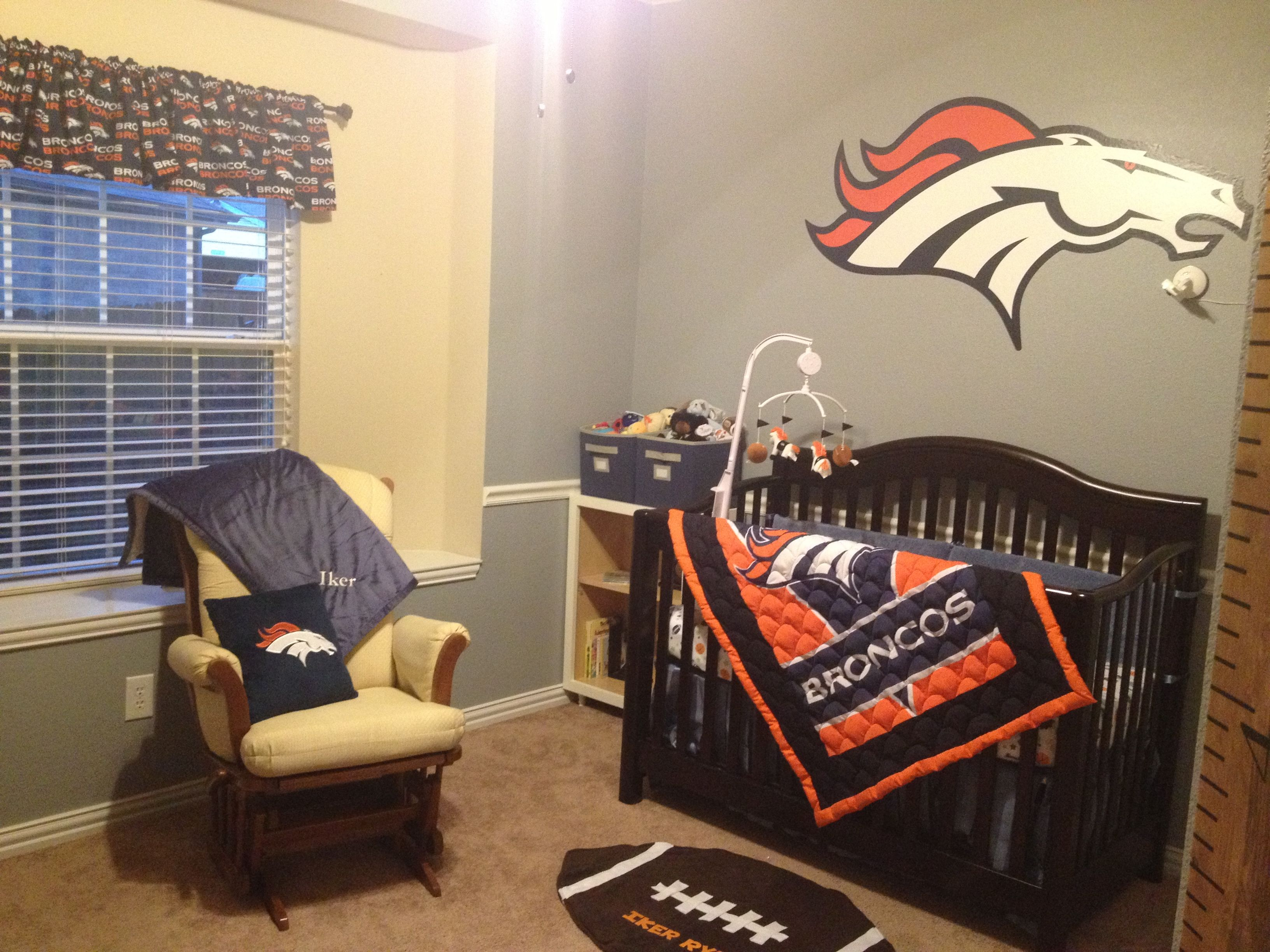 Baby cribs denver co - Denver Broncos Nursery Aka Little Guy Man Cave
