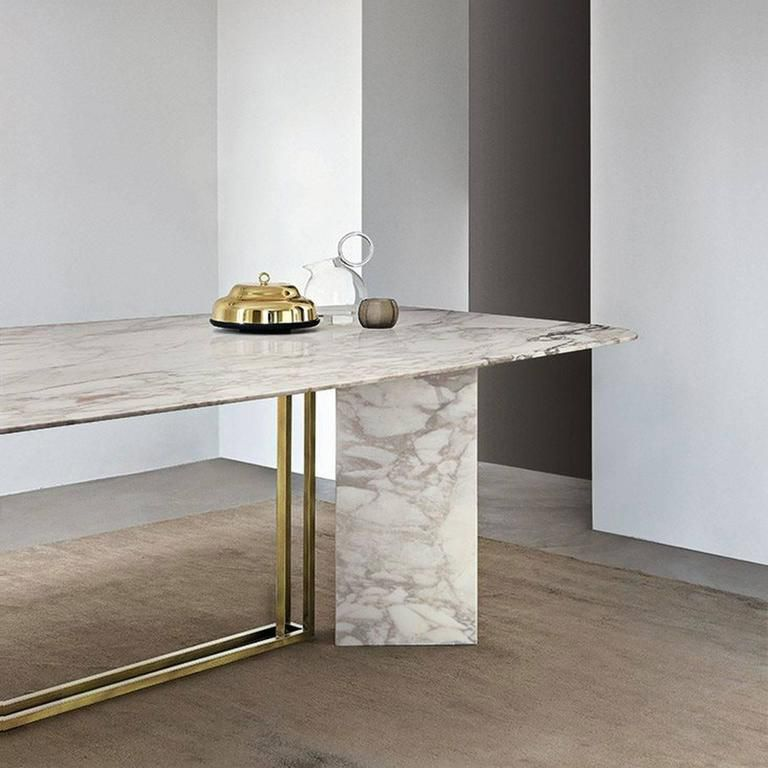 Modern Meridiani Plinto Marble Dining Table For Sale Marble