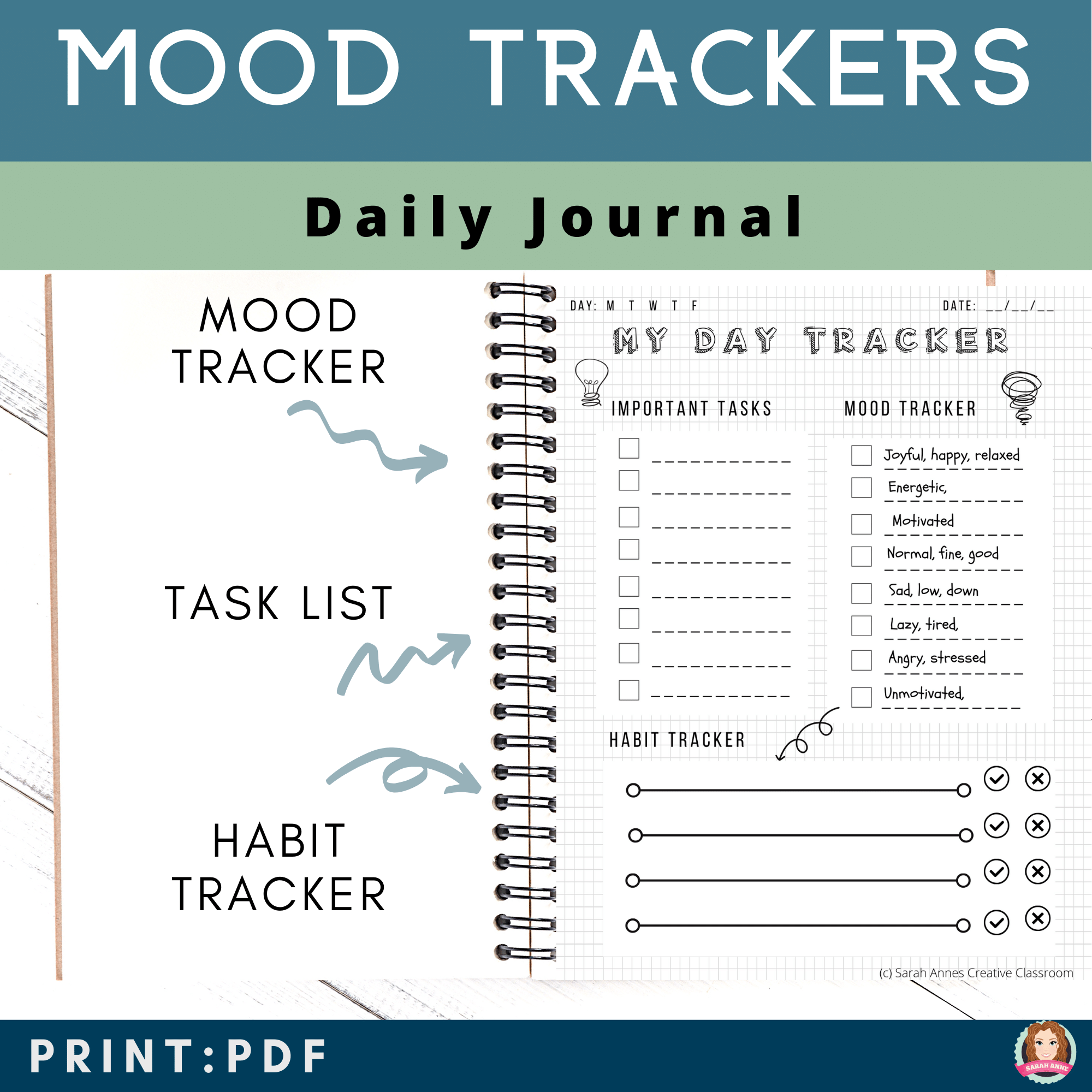 Mood Journal For Students