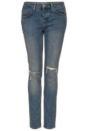 MOTO Rip Knee Skinny Jeans