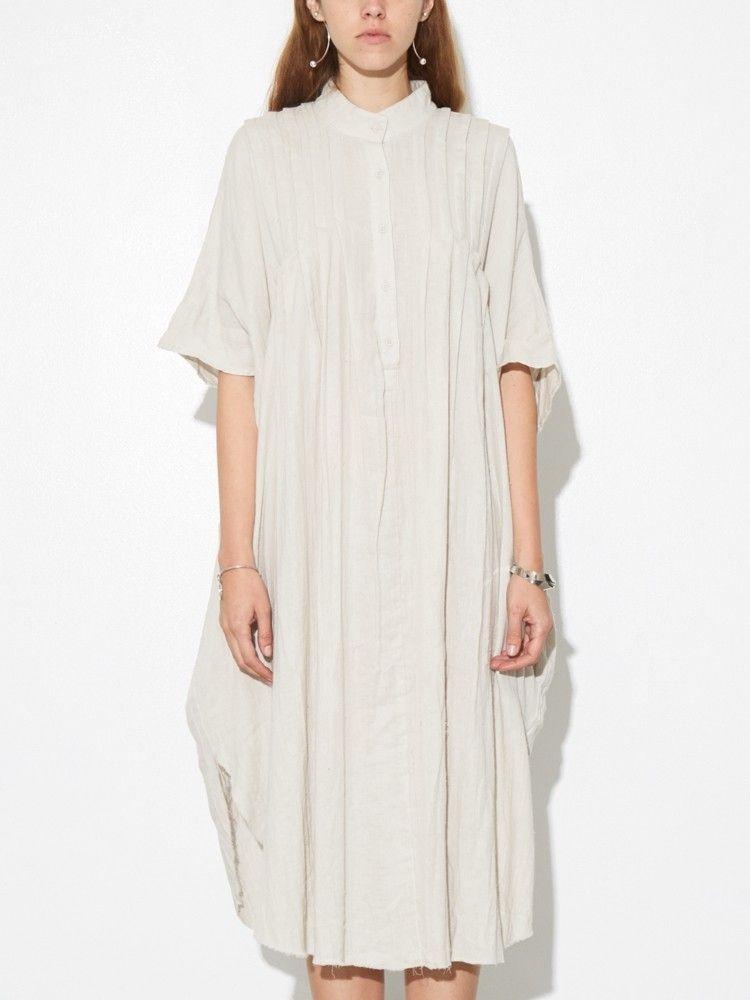 Pintuck Maxi Dress in Putty  79b93e9fe