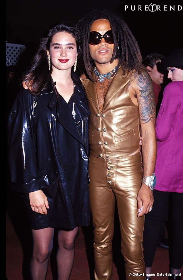 PHOTOS , Jennifer Connelly en mode 90\u0027s et Lenny Kravitz