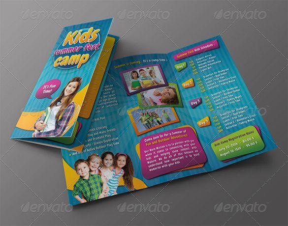 Contoh Brosur TK RA dan PAUD Brochure \ Pamphlet Designs - summer camp flyer template