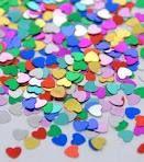 multi coloured wedding confetti