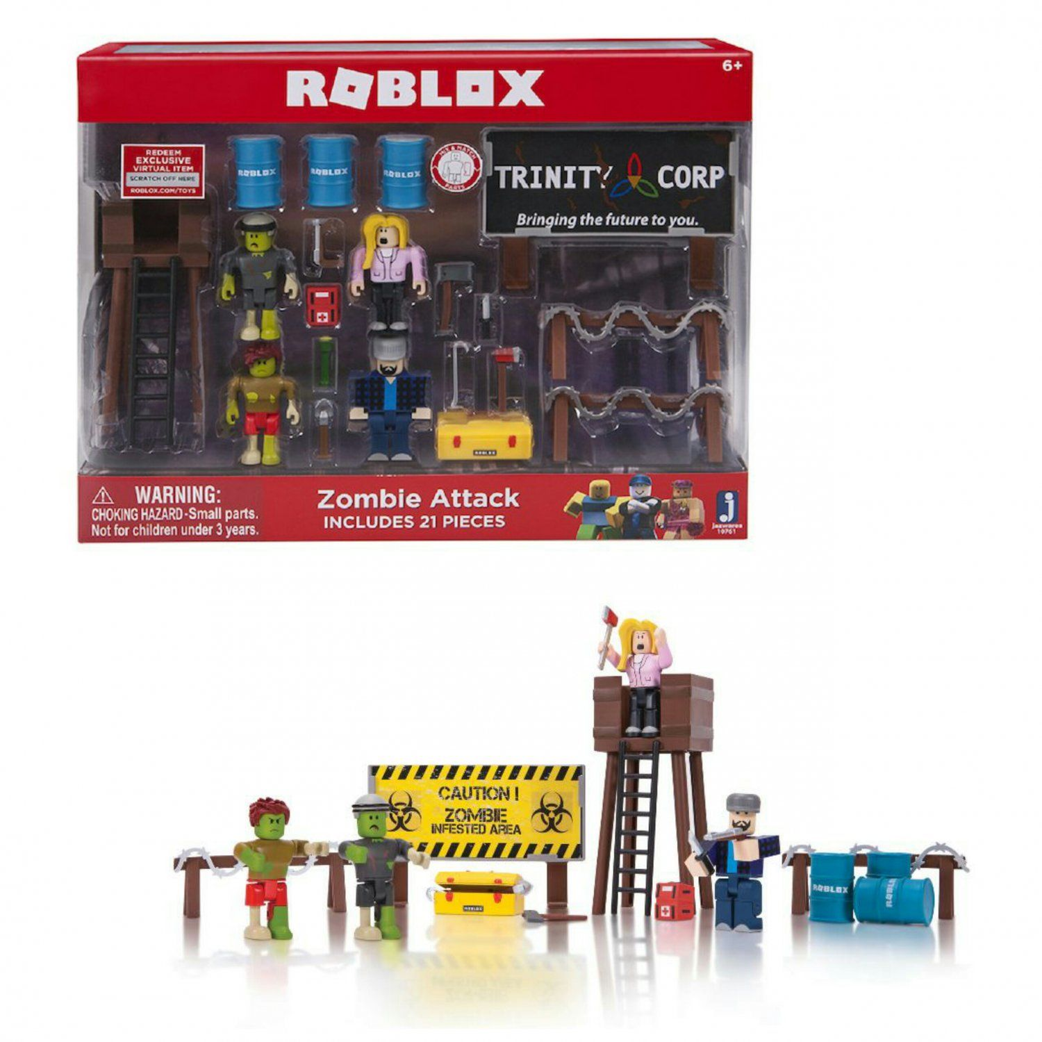 Roblox Action Figure Set Zombie Attack Playset By Jazwares