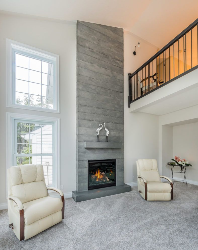 Image Result For Tall Tile Fireplace Coved Ceiling