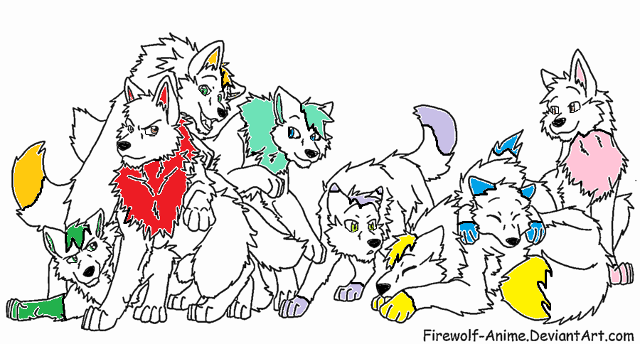 Coloring Pages Of Wolf Packs Tips