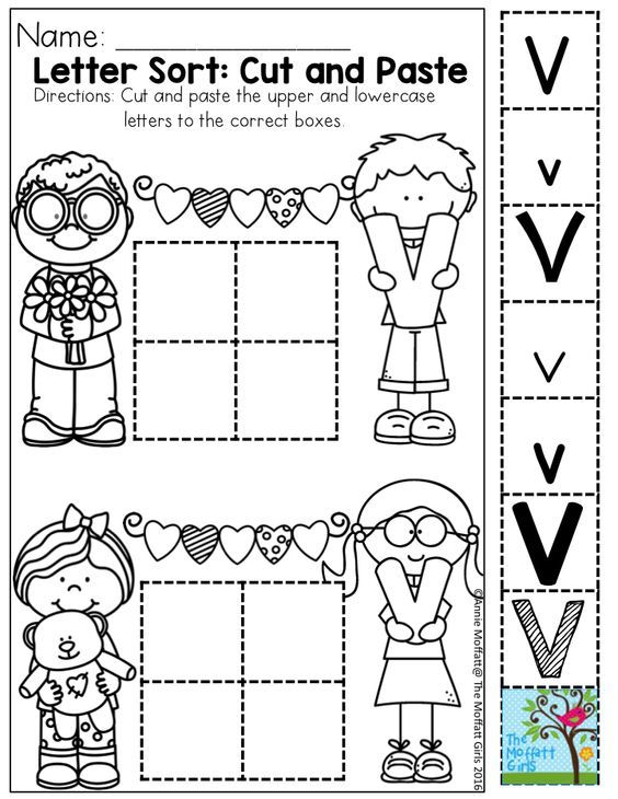 February Fun Filled Learning Alphabet Worksheets Preschool Letter Worksheets For Preschool Letter Sort Cut and paste letter worksheets for