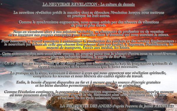 La neuvième révélations tirée du livre de James REDFIELD