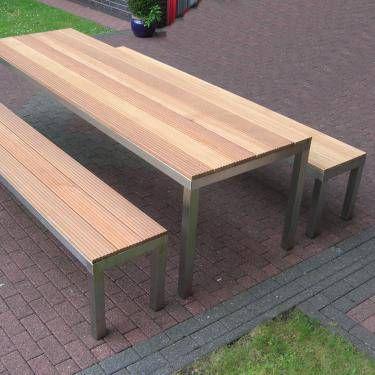 Gartenbank Aus Edelstahl Und Bankirai Holz Glasprofi24 Gartenbank Metall Holz Gartenbank Metall Gartenbank