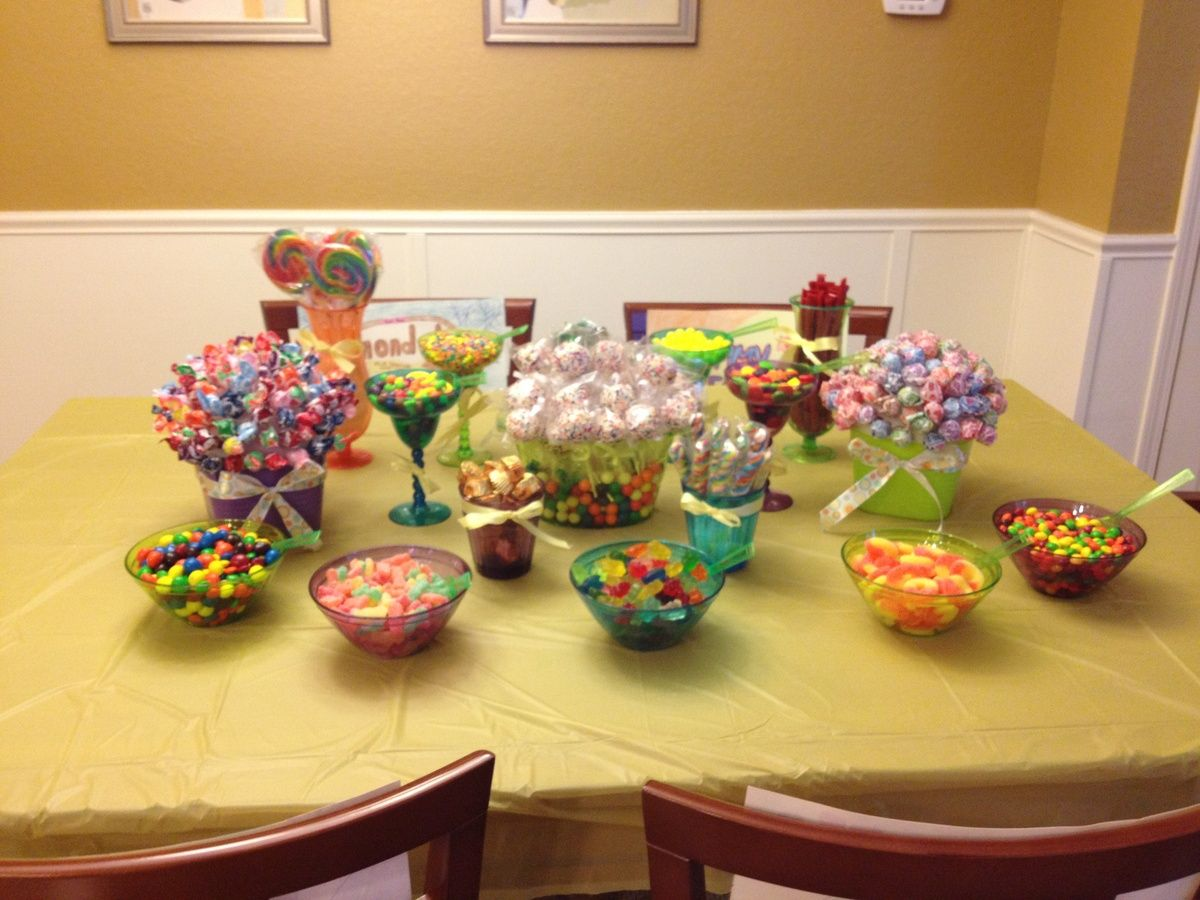 Pin by katie mccrea on party ideas Candy buffet birthday