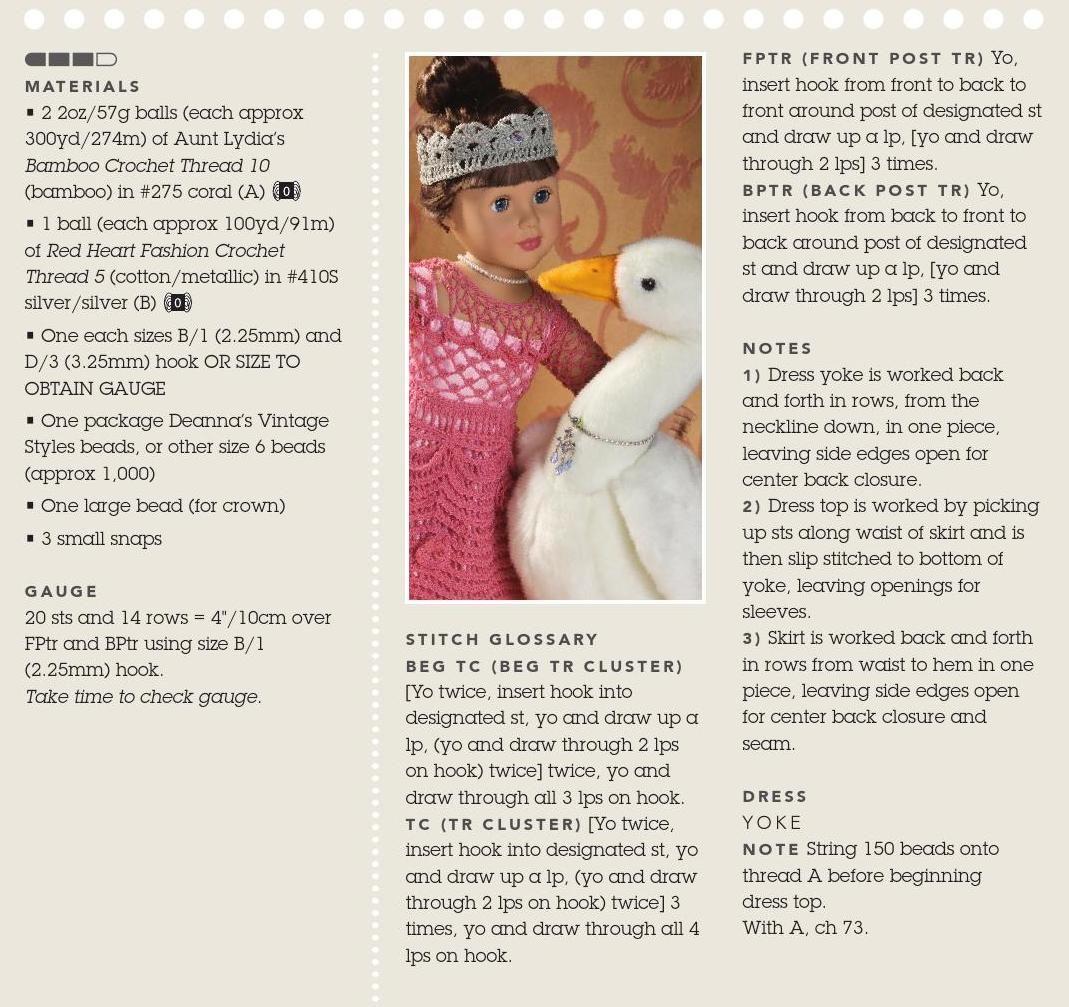 patron vestido muñeca princesa