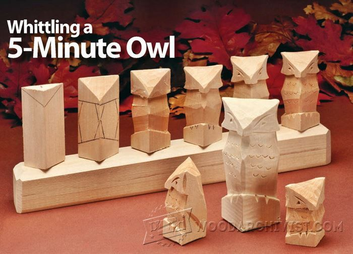 Carving owl wood patterns and techniques